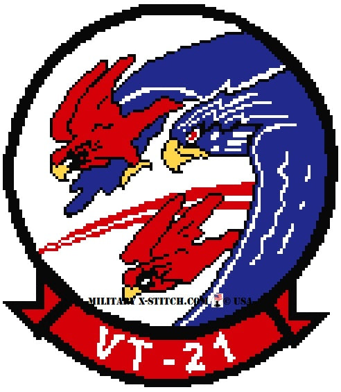 VT-21 Red Hawks Training Squadron Insignia