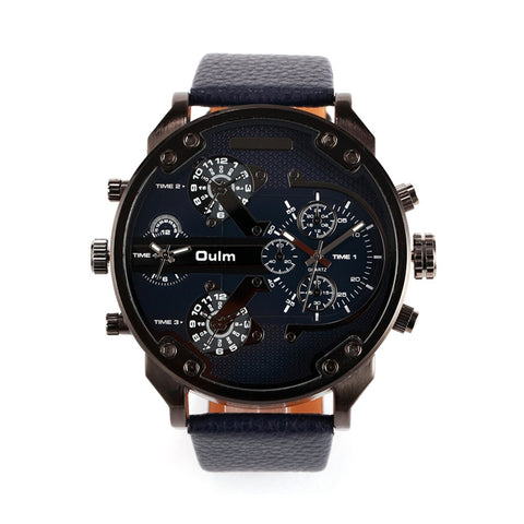 Men's Round Dial Quartz Wrist Watch