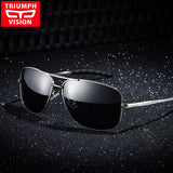 Polarized Men Sunglasses Cool Black Square