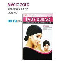 Magic Gold Lady DuRag Spandex - Black - Elegance24seven Hair