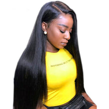 "Load image into Gallery viewer, 360 Lace Frontal Wig Pre Plucked With Baby Hair 150 Density Brazilian Straight Remy Wig 18"" - Elegance24seven Hair"