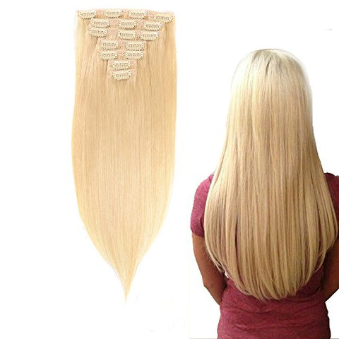 "10A Grade Virgin Remy Clip In Human Hair (Straight 7 PIECES, 100G 24"") - elegance24sevendotcom"