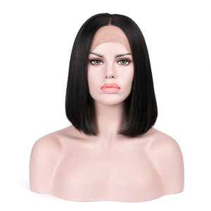 "Straight 10"" Bob Wig - Virgin Human Hair Lace Front - Elegance24seven Hair"