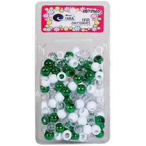 Tara Beads #72865 (L) Light Green/White/Clear [Large Pack]