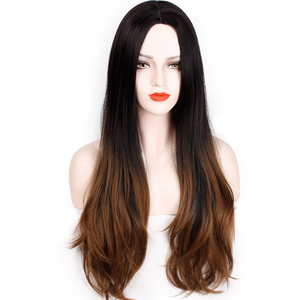 "28"" Ombre Brown Wig 9077B - Elegance24seven Hair"