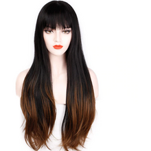 "Load image into Gallery viewer, 28"" Ombre Brown Wig 9077B - Elegance24seven Hair"