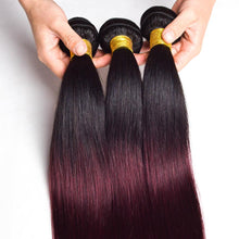 Load image into Gallery viewer, 10A Grade OMBRE #T1/99J (Straight) - Elegance24seven Hair