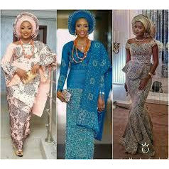 Aso-oke with Decorative Stones - Purple