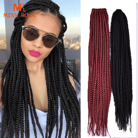 "BOX BRAIDS 18"" - Elegance24seven"