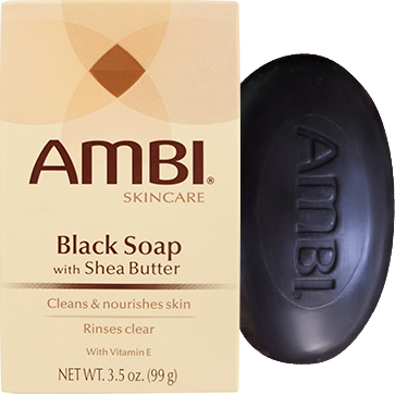 Ambi Black Soap Bar with Shea Butter (3.5oz) - Elegance24seven Hair
