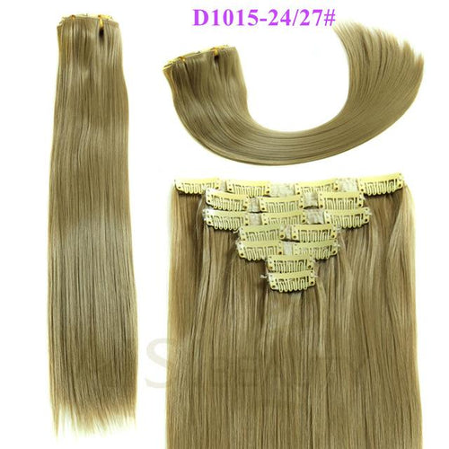 7 pcs Clip in Blend Hair - Elegance24seven Hair