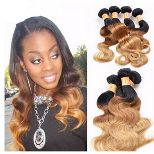 10A Grade OMBRE 1B/4/27 (Body Wave) - Elegance24seven Hair