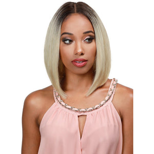 "GETTY - 12"" Human Hair -  LACE WIG - Hand Tied Center Part - Elegance24seven Hair"