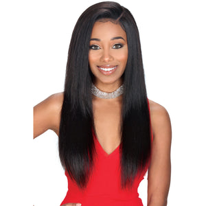 "24"" Straight 100% Remy Hair Wig - Custom Whole Cap Lace - Elegance24seven Hair"