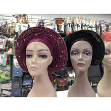 Load image into Gallery viewer, African Gele Head Wrap - Elegance24seven Hair
