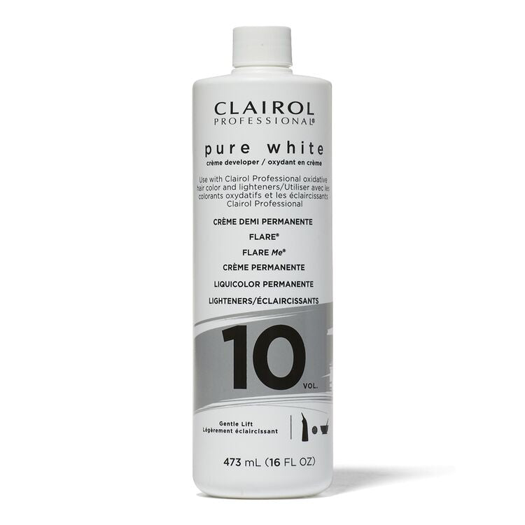 White 10 Volume Creme Developer Clairol 16 oz
