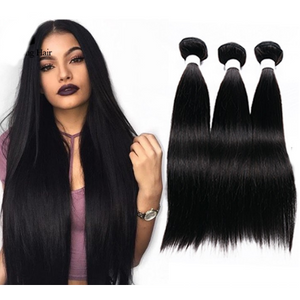 7A Straight, Natural color, Brazilian Virgin 100% Human Hair - Elegance24seven Hair