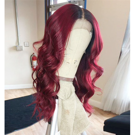 OMBRE 1B/99J Body Wave 13*6 Lace Front Human Hair Wigs ONLINE ONLY - Elegance24seven Hair