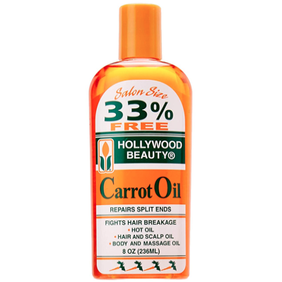Hollywood Beauty Carrot Oil For Hair or Body, 8 Oz - Elegance24seven Hair