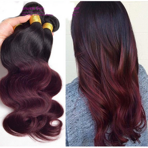 10A Grade OMBRE #T1/99J (Body Wave) - Elegance24seven Hair