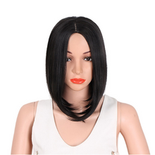 Load image into Gallery viewer, Hair Synthetic Short Burgundy Bob Wig WS702 - Elegance24seven Hair