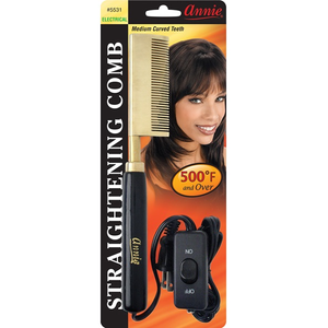 ANNIE Electrical Straightening Comb [Curved Teeth] - Elegance24seven Hair