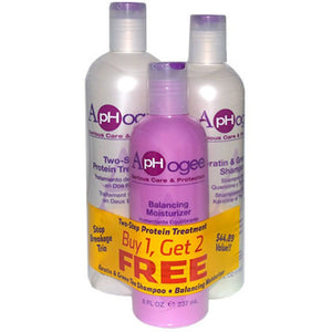 ApHogee Combo 3pcs(Two-Step Treat (16oz)/ Shamp./ Bal. - Elegance24seven Hair
