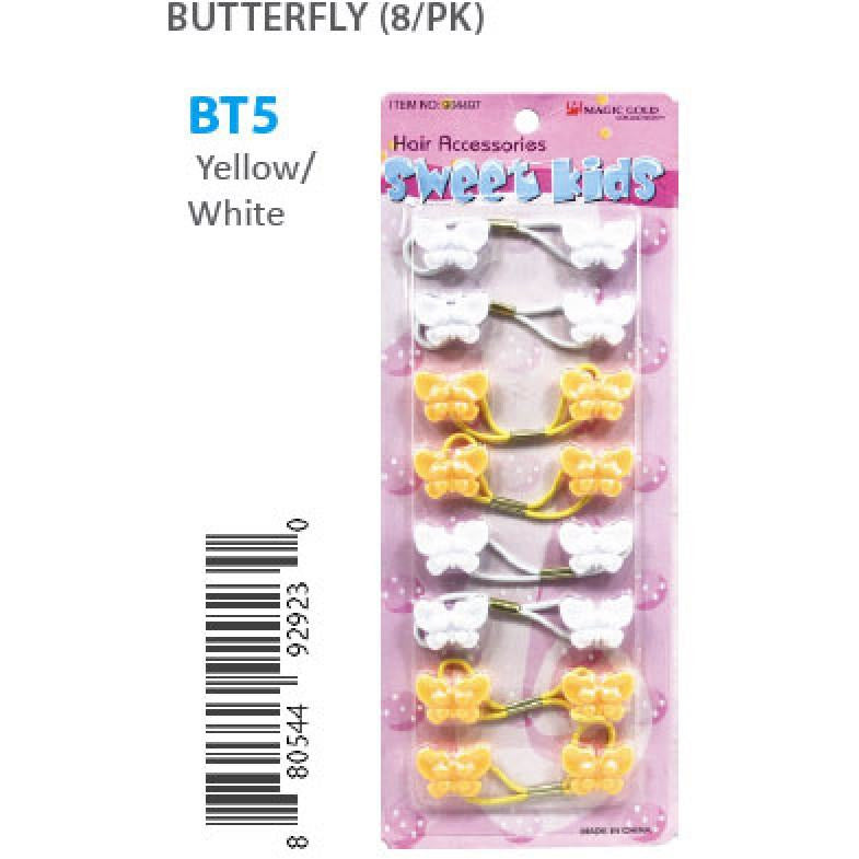 Bubble Butterflies #BT5 YELLOW/WHITE 8PK
