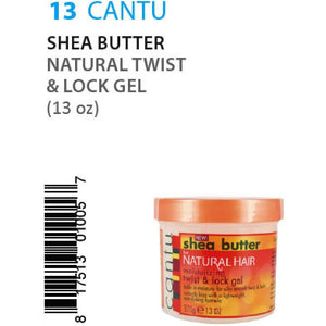 Cantu Shea Butter Natural Twist&Lock Gel (13oz) #13 - Elegance24seven Hair