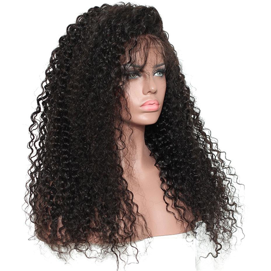 13x4 Lace front Kinky Curly Human Hair Wig - Elegance24seven Hair