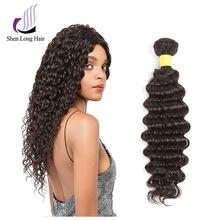 7A Grade Brazilian Virgin 100% Human Hair (Deep Wave, Natural color) - Elegance24seven Hair