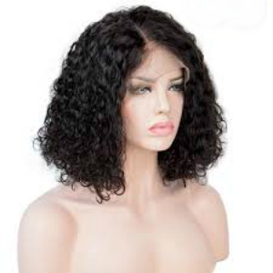 "Jerry Curl 14"" Bob Wig - Virgin Human Hair Lace Front - Natural Colour - Elegance24seven Hair"
