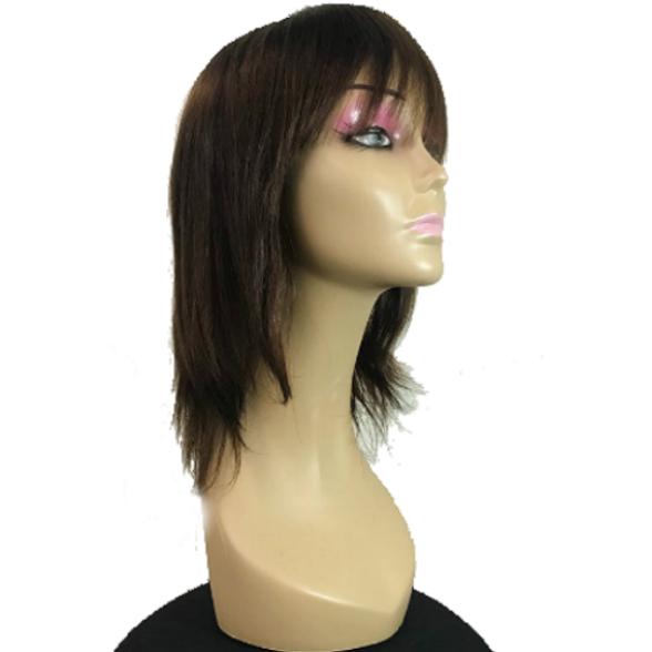 FZ49 Human Hair wig with bangs - Elegance24seven Hair