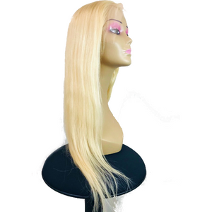"Lace Front Human Hair 150% Density Wig 18"" Straight - Colour 613 - Elegance24seven Hair"