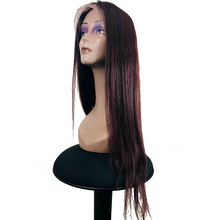 "Load image into Gallery viewer, Lace Front Human Hair 150% Density Wig 18"" Straight - Colour 99J - Elegance24seven Hair"