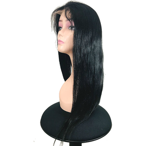 "360 Lace Frontal Wig Pre Plucked With Baby Hair 150 Density Brazilian Straight Remy Wig 18"" - Elegance24seven Hair"