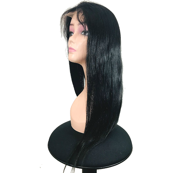 360 Lace Frontal Wig Pre Plucked With Baby Hair 150 Density Brazilian Straight Remy Wig 18