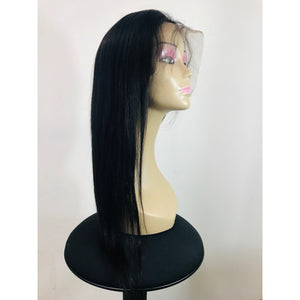 "Lace Front Human Hair 150% Density Wig 18"" Straight - Natural Colour - Elegance24seven Hair"