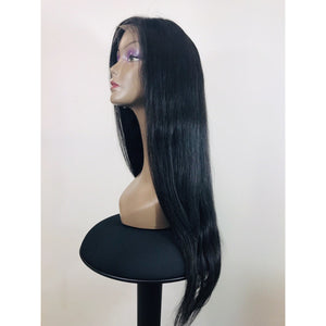 "Lace Front Wig 250% Density (Natural Color) Straight 22"" - Elegance24seven Hair"
