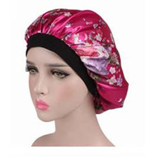 Load image into Gallery viewer, Wide Band Satin Sleep Cap - Elegance24seven Hair