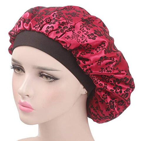 Wide Band Satin Sleep Cap