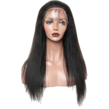 "Load image into Gallery viewer, Light Yaki Lace Frontal Wig Pre Plucked With Baby Hair 150 Density Straight Wig 18"" - Elegance24seven Hair"