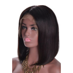 "Straight 12"" Bob Wig - Virgin Human Hair Lace Front - Elegance24seven Hair"