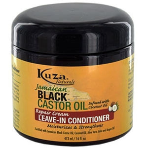 Kuza-box Black Castor Oil Leave In Conditioner (16oz) - Elegance24seven Hair