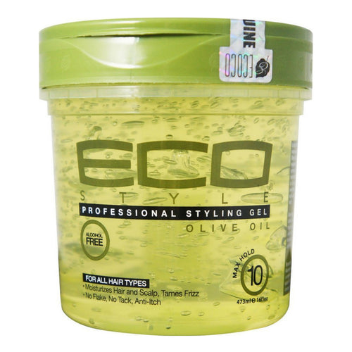 Eco Gel - Olive Oil/Max Hold (16oz) - Elegance24seven Hair