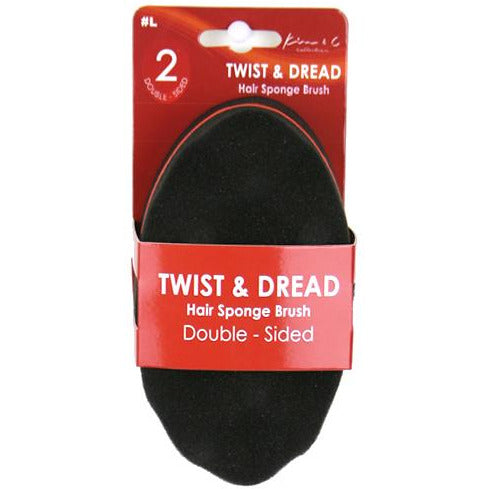 Double Sided Mini Twist & Dread Sponge Brush - Elegance24seven Hair