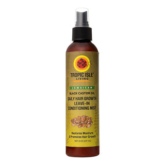 Black Castor Oil Daily Hair Growth Leave in Mist [TROPIC ISLE LIVING] (8oz)
