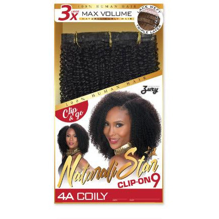 NAT REMY HUMAN HAIR CLIP ON 4A COILY - Elegance24seven Hair