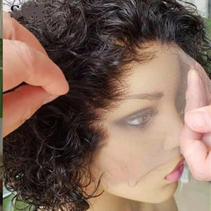 Short Curly Lace Front Human Hair Wigs  ONLINE ONLY - Elegance24seven Hair