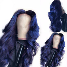 Load image into Gallery viewer, Dark Blue 13*3 Swiss HD Lace Front Body Wave Wigs ONLINE ONLY - Elegance24seven Hair